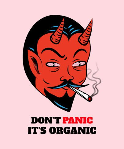 Cannabis T-Shirt Design Maker Featuring a Red Devil Graphic 1410d