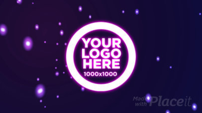 Intro Maker for a Logo Reveal with Energetic Hyperspace Effect