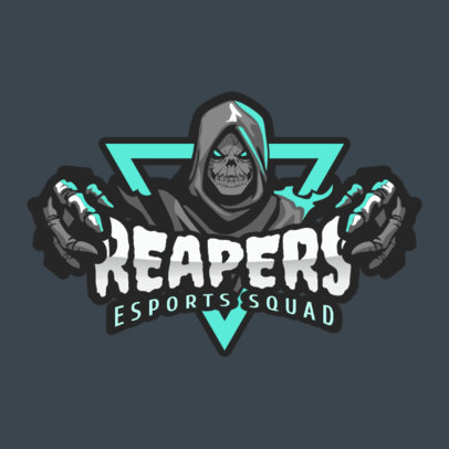 Gaming Logo Generator with a Reaper Cartoon Clipart 2206f