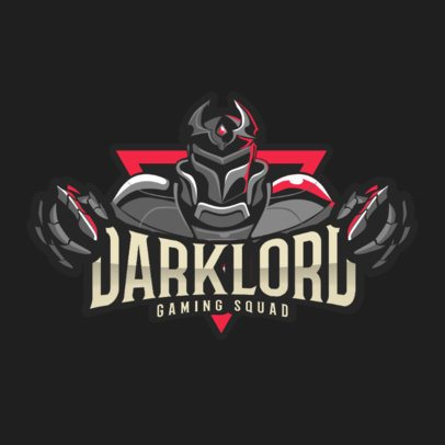 Gaming Squad Logo Template with a Dark Character Illustration 2206c