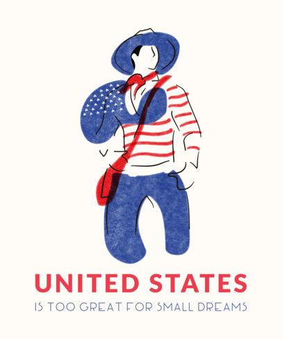 Patriotic T-Shirt Design Maker with Flag Colors 1408