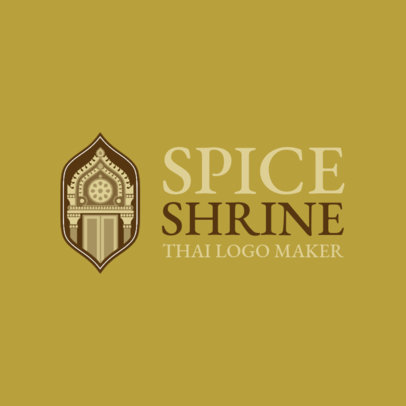 Logo Maker with Thai Graphics for a Thai Cuisine 1843a