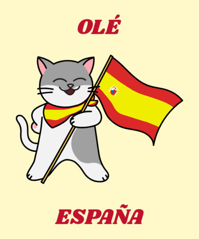 Spanish T-Shirt Design Generator with a Joyful Cat Clipart 1406a