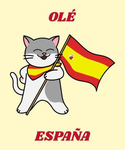 Spanish T-Shirt Design Generator with a Joyful Cat Clipart 1406d