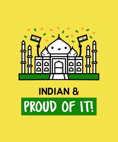 Patriotic Tee Design Maker with Indian Landmarks