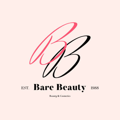Delicate Monogram Logo Maker for a Beauty Brand 2211a