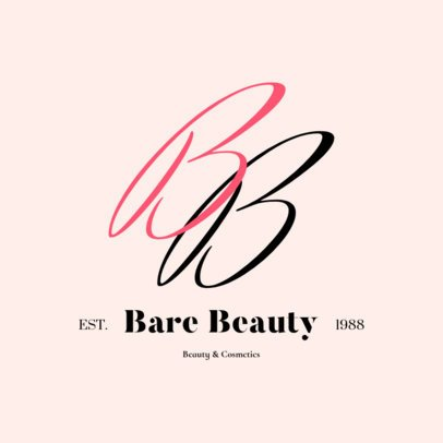 Delicate Monogram Logo Maker for a Beauty Brand 2211a