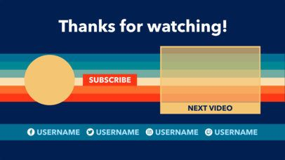 Colorful YouTube End Card Design Template 1438