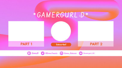 YouTube End Card Generator with Bubblegum Style