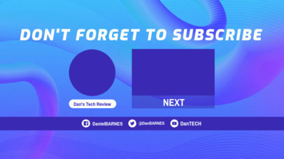 Surrealistic-Styled YouTube End Screen Template