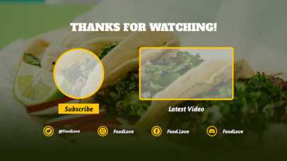 YouTube End Card Maker with Food in the Background 1433