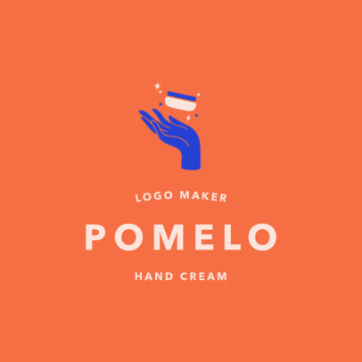 Beauty Logo Template for a Hand Cream Brand 2213b