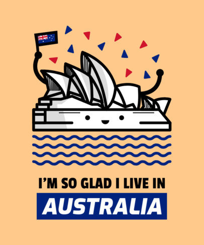 Aussie T-Shirt Design Template 1407e