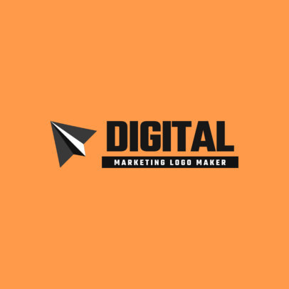 Minimal Digital Marketing Agency Logo Maker 2229