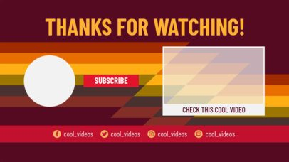 YouTube End Screen Maker with Sober Colors and Dynamic Shapes 1438d