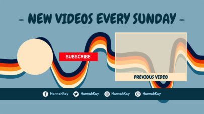 YouTube End Card Maker with a Color Ribbon Background 1438e