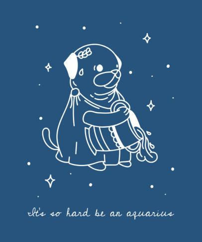 Zodiac T-Shirt Design Maker Featuring Cute Dogs 1427b