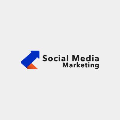 Digital Marketing Company Logo Maker with Abstract Shapes 2232