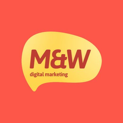 Marketing Agency Logo Maker with a Speech Balloon 2226a