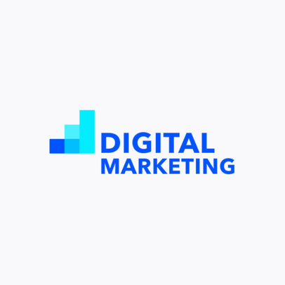 Placeit - Online Logo Maker for Digital Marketing with Solid Background