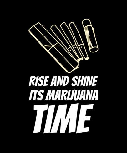 T-Shirt Design Template Featuring Marijuana Supply Graphics 1424e