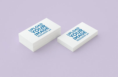 Minimal Mockup Featuring Two Business Card Packs 45-el