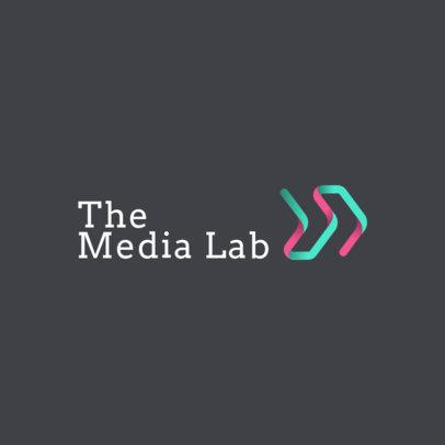 Digital Marketing Logo Maker with a Color Ribbon 2232a