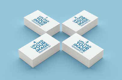 Mockup of Four Business Card Packs 44-el