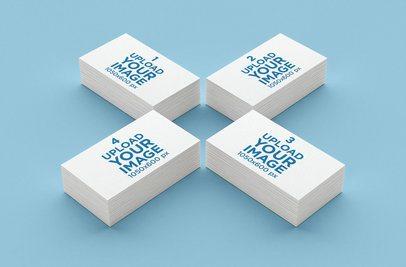 Mockup of Four Business Card Packs 44-el