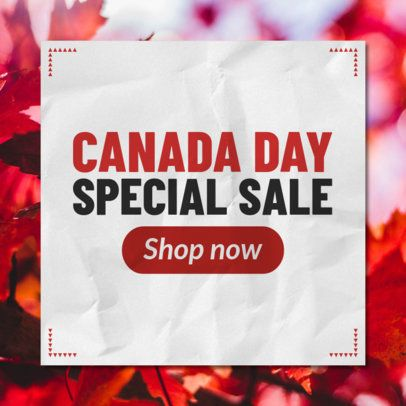 Banner Design Maker for a Canada Day Special Sale 546g