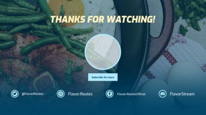 YouTube End Screen Maker for Food Vloggers 1433b