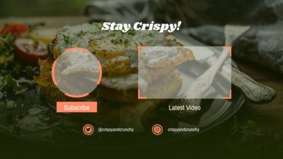 YouTube End Screen Template Featuring Food Backgrounds 1433d