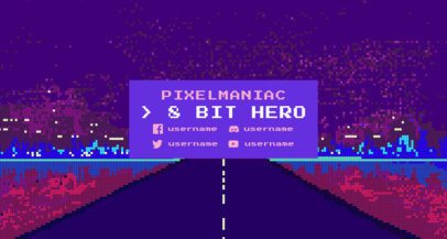Retro Gaming Twitch Banner Design Template 1448