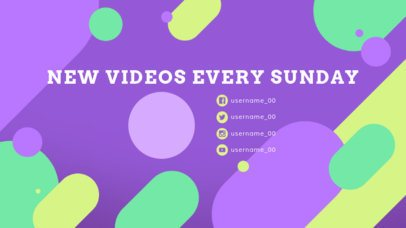 YouTube End Card Design Template With Colorful Social Media Icons 1434d