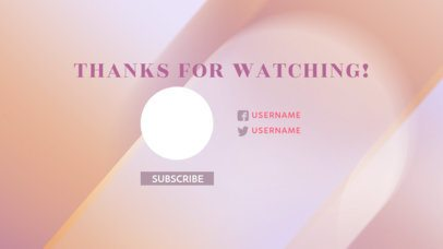 YouTube End Screen Template with a Thankful Message 1442e