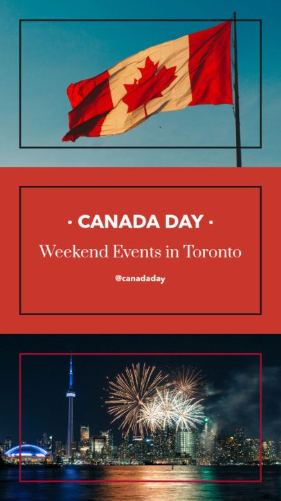 Instagram Story Maker for Canada Day Events 956f