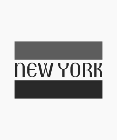 New York T-Shirt Design Template 2302c