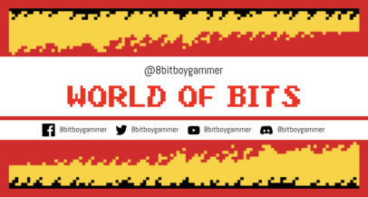 Twitch Banner Maker with 8-Bit Patterns and Retro Design 1447