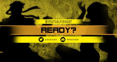 Twitch Banner Maker Featuring Karate-Fighters´ Shadows 1458d