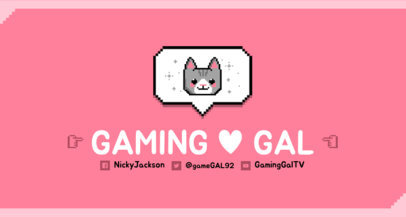 Twitch Banner Maker with a Cute 8-Bit Cat 1451e