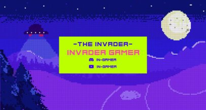 Twitch Banner Maker with a Retro Alien Game Theme 1448a