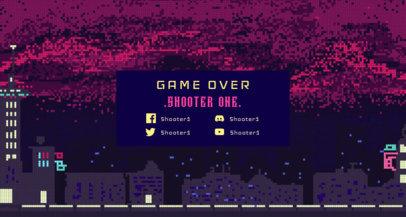 Pixel Art Twitch Banner Maker Featuring a Dark City1448e