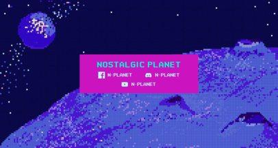 Twitch Banner Maker Featuring an 8-Bit Space Scenario 1448b