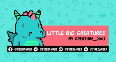 Pixel Art Twitch Banner Maker Featuring an 8-Bit Dragon 1449e
