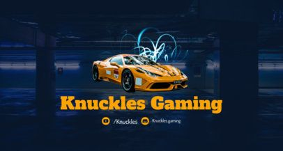 Racing-Themed Twitch Banner Maker 1457a