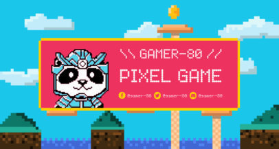 Twitch Banner Maker with a Tender Pixel Art Panda 1453a