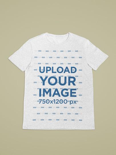 Flat Layed T-Shirt Mockup with a Minimalistic Setting 27674