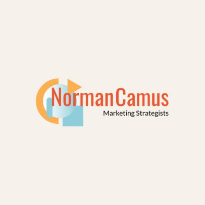 Online Logo Template with Geometric Graphics 2231b