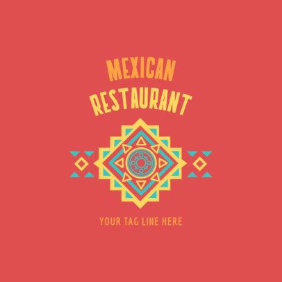 Restaurant Logo Maker Restaurant Logo Maker with Mexican Folk Art 1237a