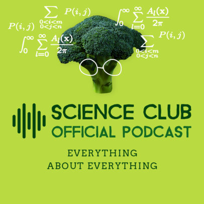 Podcast Cover Design Template for a Science Channel 1495a
